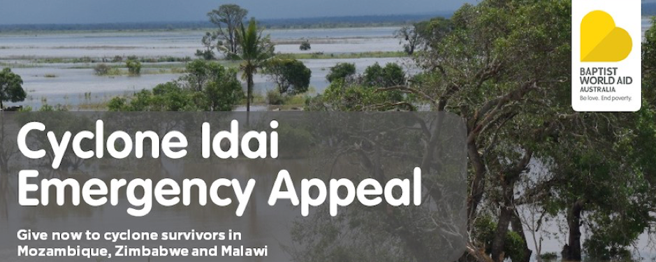 Baptist World Aid Australia launches Cyclone Adai appeal